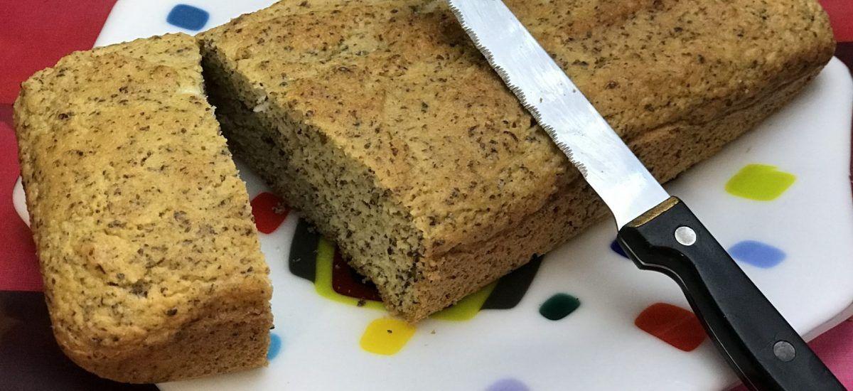 No-pan de molde low carb I (o «bizcocho de semillas de lino»)