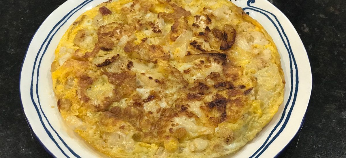 Tortilla de patatas low carb (o «no-patatas a examen»)