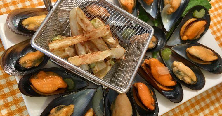 Moules et no-frites (o «unos mejillones, ¡por Tutatis!»)