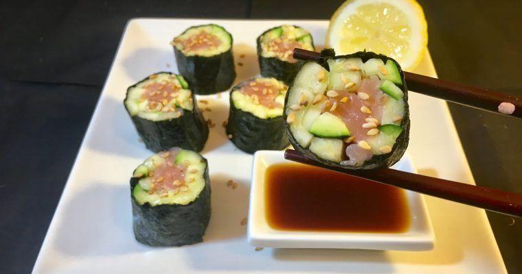 Maki sushi sin arroz II (con calabacín…¡por fin!)