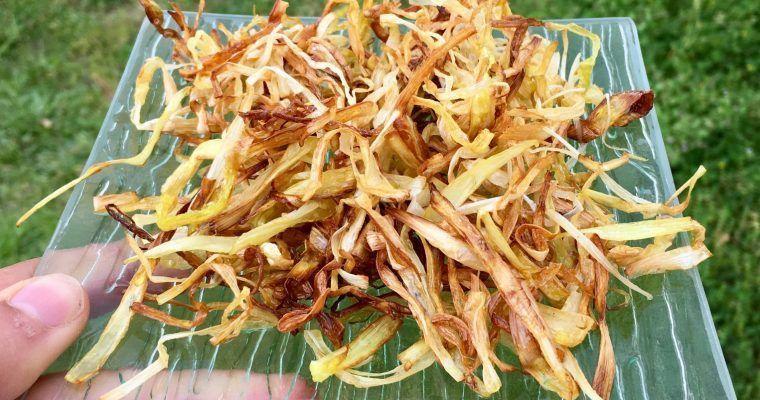 No-patata paja crujiente (de juliana de puerro)