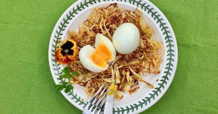 Huevos al nido low carb o «¡una de nidoterapia para mí!»