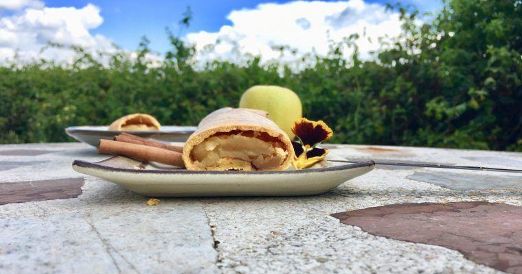 """Strudel de manzana y canela low carb (o """"el compromiso"""")"""