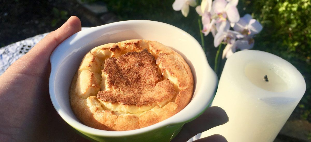 Soufflé de queso low carb: una belleza altanera pero facilona