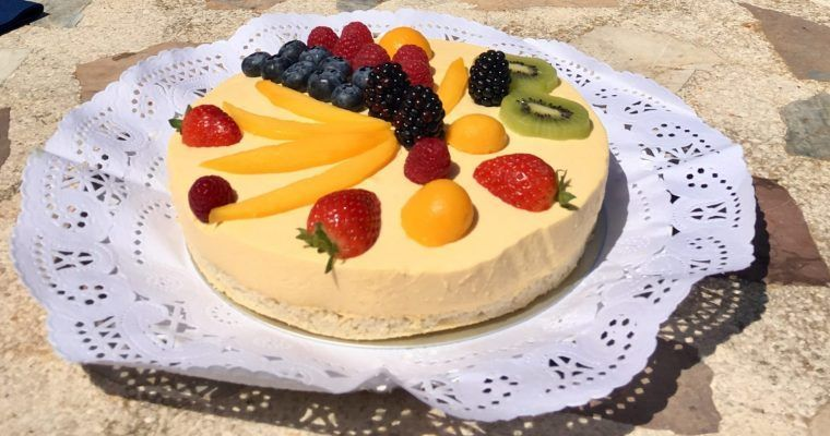 Tarta mousse de mango II (y menú low carb para celebrar)