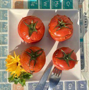 tomates rellenos low carb sin arroz