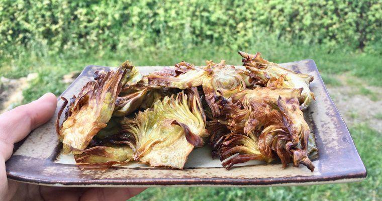 Chips low carb (podio de no-patatas fritas crujientes)