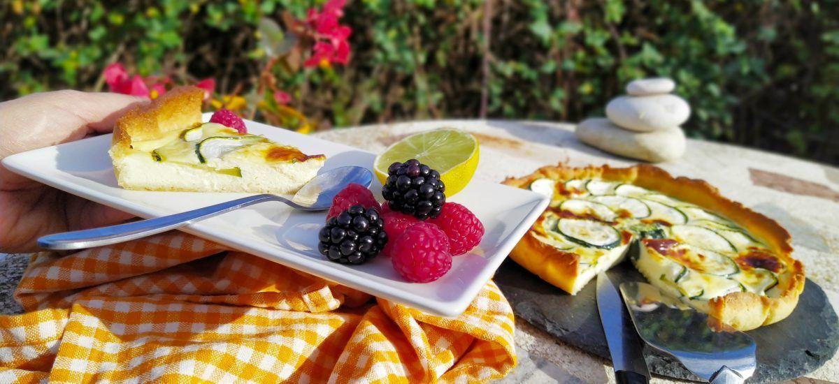 Tarta «anti-amargura» de calabacín, jengibre y limón
