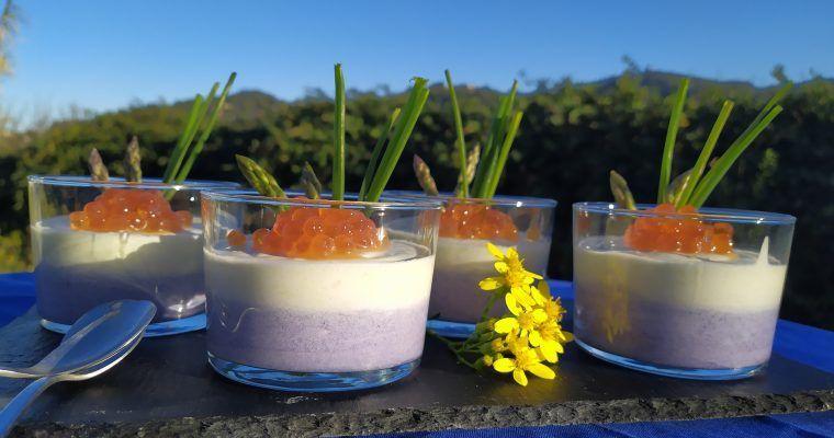 Mousse de puerro y lombarda (gracias a las musarañas)