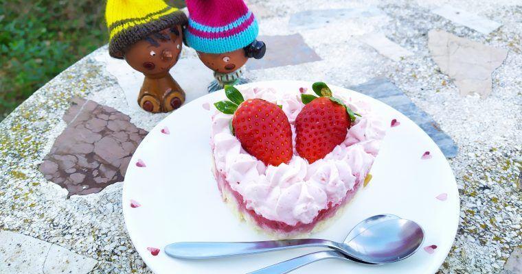 Tarta mousse de fresa (ofrenda a San Valentín)