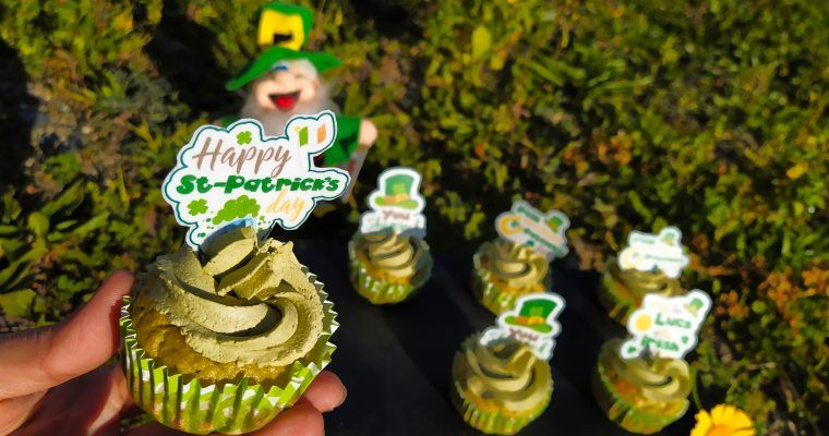 Cupcakes de té matcha ¡Cuenta atrás para St Patrick!