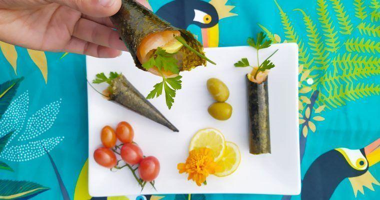 Rolli-cucuruchos de nori (para ocasiones «íntimas»)