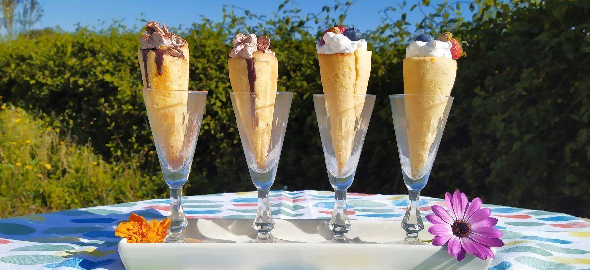 Cucuruchos con nata y trufa «puesto vacante para musa»