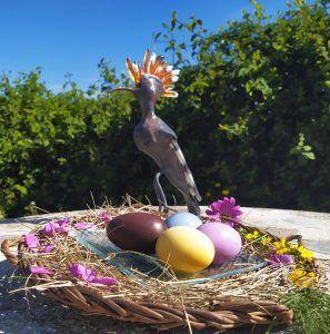huevos de pascua de colores sin colorantes abubilla