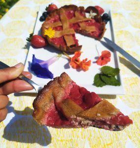 linzer torte de fresas paleo keto low carb sin azucar sin gluten