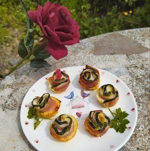 flores de calabacin con bacon paleo keto