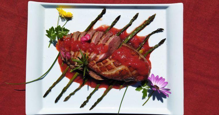 Magret de pato con fresas (y efusiva oda al congelador)