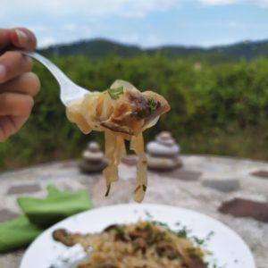 tagliatelle ai funghi porcini keto sin gluten paleo low carb