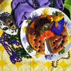 mardi gras king cake keto sin azucar sin gluten low carb sin colorantes
