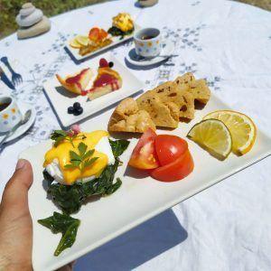 brunch keto low carb sin gluten huevos a la florentina