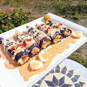 canelones frios de col lombarda paleo keto vegetariano sin gluten low carb