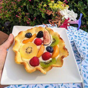 tarta de crema y frutas sin azucar keto low carb sin gluten