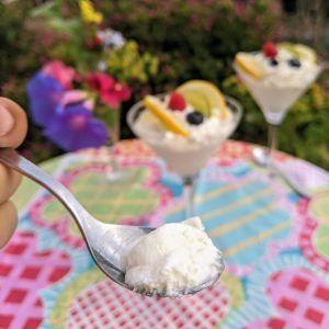 mousse de limón keto sin azucar low carb