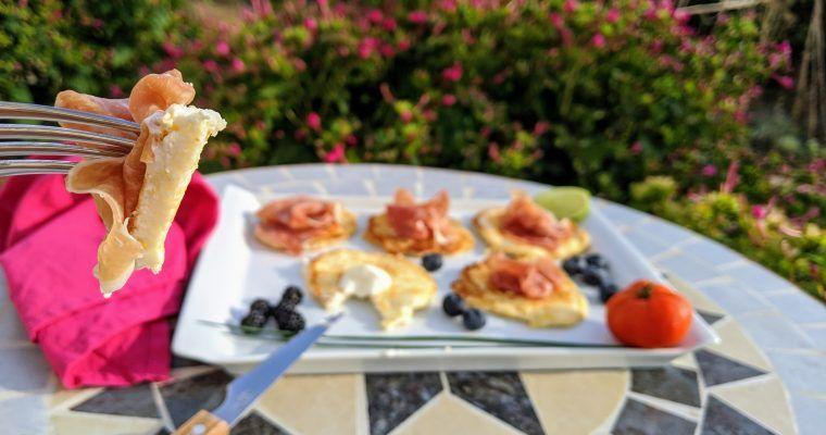 Tortitas raudi-cremosas con jamón (el dúo perfecto)