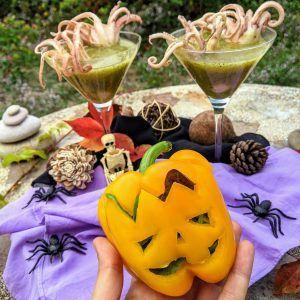 pulpitos crema de calabacin halloween keto paleo low carb