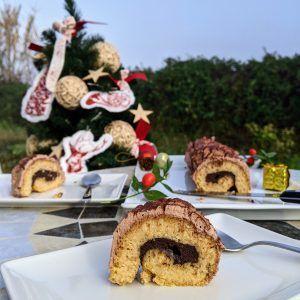 tronco de navidad sin gluten sin azucar keto low carb chocolate avellana