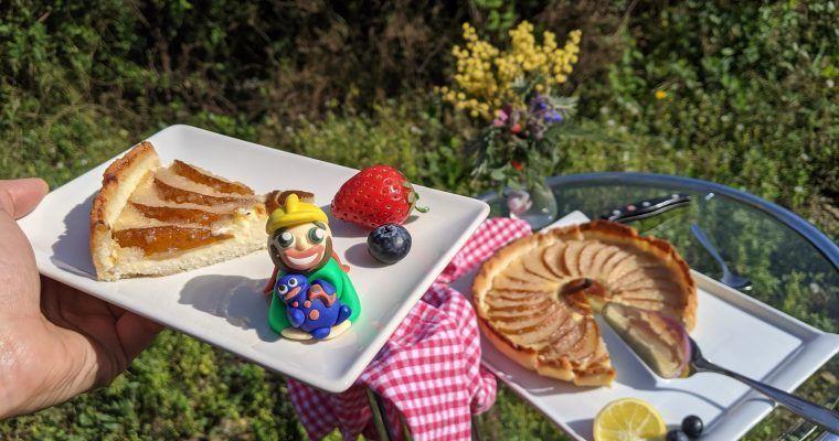 «Pear-pear-pie» o tarta «pera-pera» con crema (y pera)
